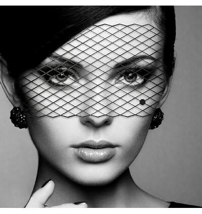 Bijoux Indiscrets ozdobna maska na oczy - Louise - czarny