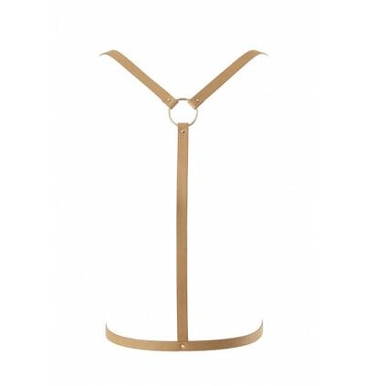 Maze - uprząż w kształcie litery Y - brązowy