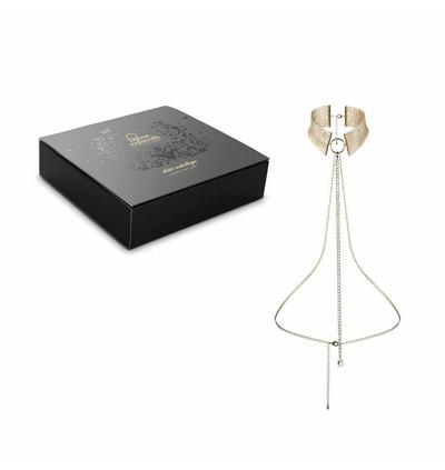 Bijoux Indiscrets Désir métallique - obroża z łańcuszków, złoty