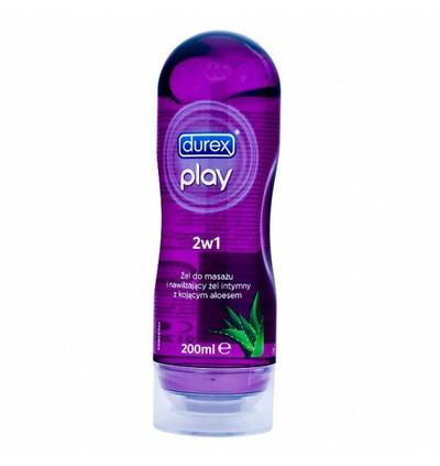 Durex Play do masażu stymulujący - Fiolet-Aloes - Żel intymny