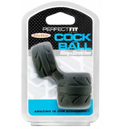 Perfect Fit SilaSkin Cock & Ball - rozciągacz do jąder z pierścieniem