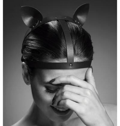 Bijoux Indiscrets  MAZE Head Piece  - kocie uszy - czarny