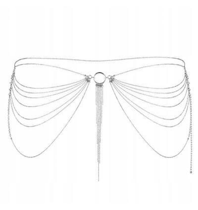 Bijoux Indiscrets Magnifique - łańcuszek na pośladki, srebrny