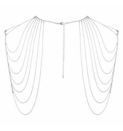 Bijoux Indiscrets Magnifique - łańcuszek na ramiona, srebrny