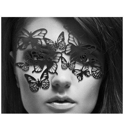 Bijoux Indiscrets ozdobna maska na oczy - Sybille - czarny