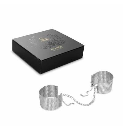 Bijoux Indiscrets Désir Métallique -  kajdanki z łańcuszków, srebrny