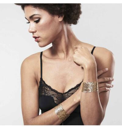 Bijoux Indiscrets Désir Métallique -  kajdanki z łańcuszków, złoty