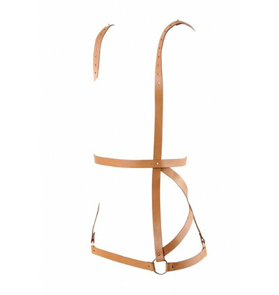 Maze - uprząż na biodra, talię i ramiona - brązowy