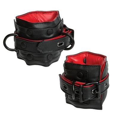Kink Leather Ankle Restraints - kajdanki na kostki