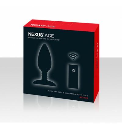 Nexus  Ace - wibrujący korek analny z pilotem, czarny