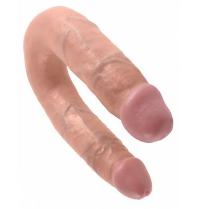 King Cock U-Shaped Medium Double Trouble - podwójne dildo