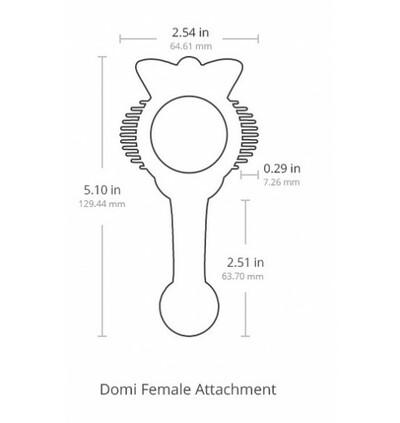 Lovense Domi Female Attachment - nakładka na masażer dla kobiet