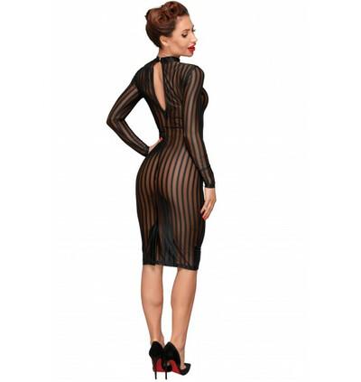 F182 Seksowna, klasyczna sukienka z przezroczystego tiulu