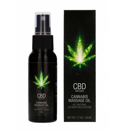 Shots CBD Cannabis Massage Oil - olejek do masażu z CBD