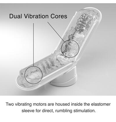 Tenga Flip Zero Electronic Vibration - masturbator wibrujący, biały