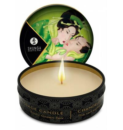 świeca do masażu, zielona herbata