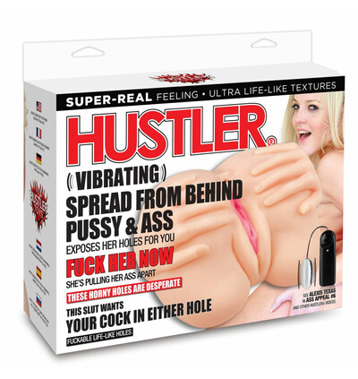 Hustler Vibrating Spread From Behind Pussy & Ass - Masturbator wibrujący