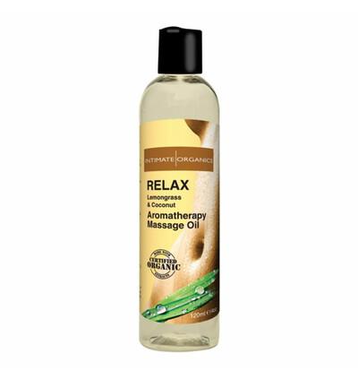 Intimate Organics Relax Massage Oil 120 ml - Organiczny Relaksujący olejek do masażu