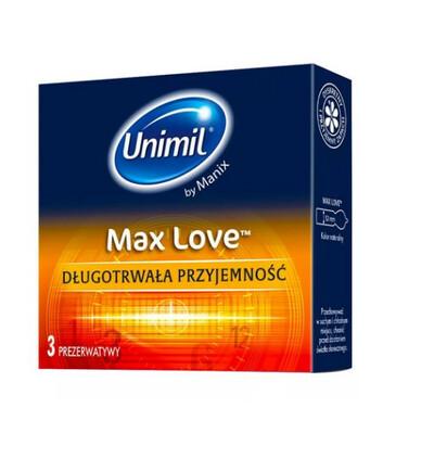 Unimil Max Love - prezerwatywy prążkowane