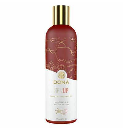 Dona Essential Massage Oil Rev Up Mandarin & Ylang Ylang 120 ml - Olejek do masażu