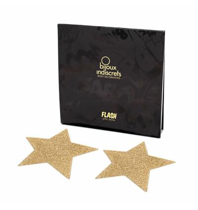 Bijoux Indiscrets Flash Star - Nasutnki, Złoty