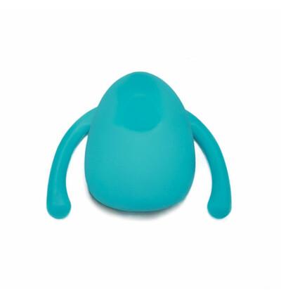 Dame EVA Hands-Free Vibrator - wibrator łechtaczkowy, niebieski
