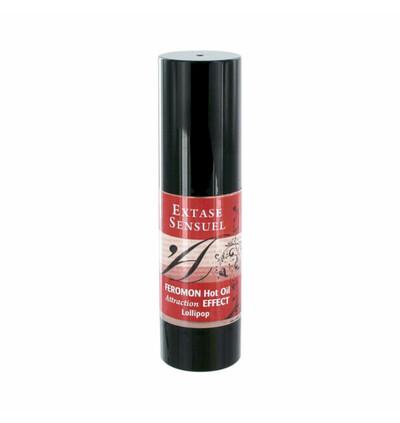 Extase Sensuel Hot Oil Lollipop - Olejek do masażu z feromonami