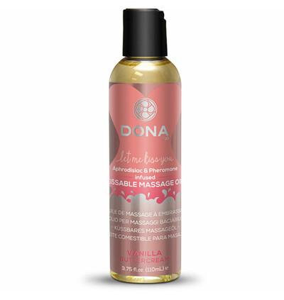Dona Kissable Massage Oil Vanilla Buttercream 110ml - Jadalny olejek do masażu, waniliowy