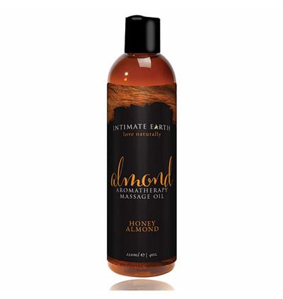 Intimate Earth Massage Oil Almond 240 ml - olejek do masażu, Miód i migdały