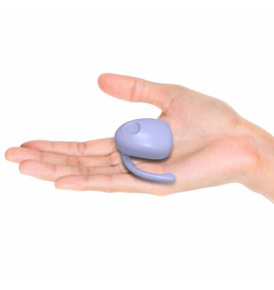 Dame EVA Hands-Free Vibrator - wibrator łechtaczkowy, fioletowy