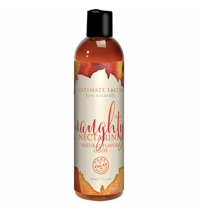 Intimate Earth Natural Flavors 60 ml - organiczny lubrykant na nazie wody, Nektarynka