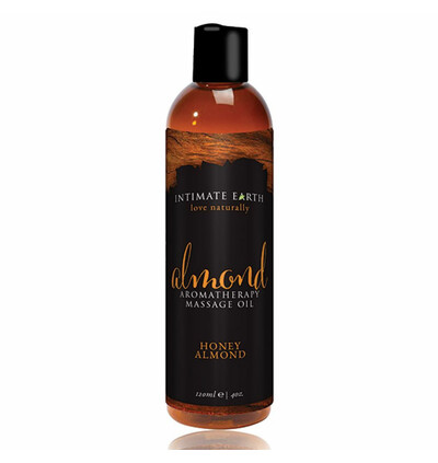 Intimate Earth Massage Oil Almond 120 ml - olejek do masażu, Miód i migdały