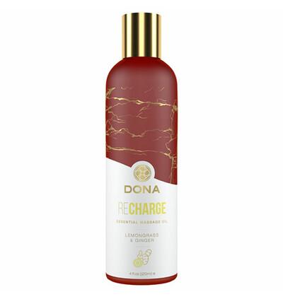 Dona Essential Massage Oil Recharge Lemongrass & Ginger 120 ml - Olejek do masażu
