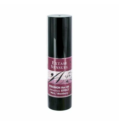 Extase Sensuel Hot Oil Blackberry - Olejek do masażu z feromonami