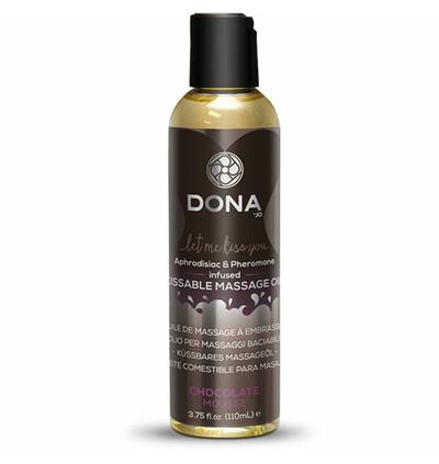 Dona Kissable Massage Oil Chocolate Mousse 110ml - Jadalny olejek do masażu, czekoladowy