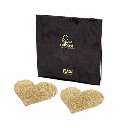Bijoux Indiscrets Flash Heart - Nasutnki, Złoty