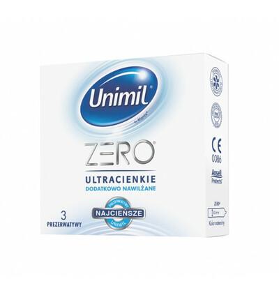 Zero - ultracienkie, nawilżane prezerwatywy