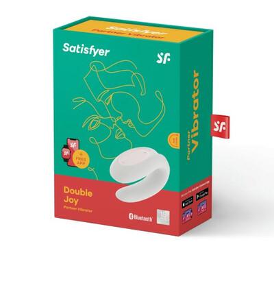 Satisfyer Double Joy White  - Wibrator dla par sterowany aplikacją