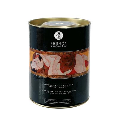 Shunga - Blazing Cherry Sweet Snow 225 g - jadalny puder do ciała