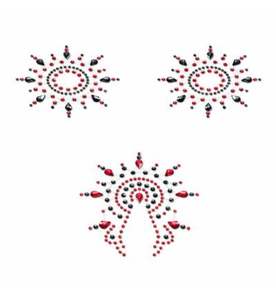 Petits Joujoux - Biżuteria do ciała - Gloria Set, Czarny z Czerwonym