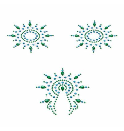 Petits Joujoux - Biżuteria do ciała - Gloria Set, Niebieski z Zielonym