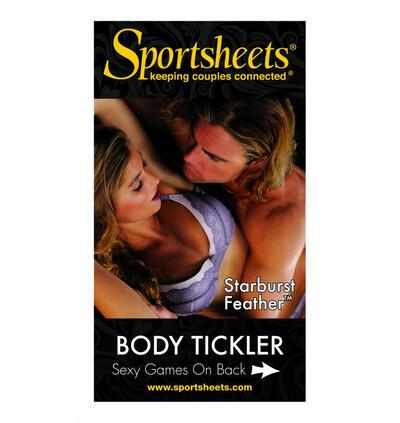 """Sportsheets Pawie piórko do łaskotania """"Starburst"""", Czarny"""