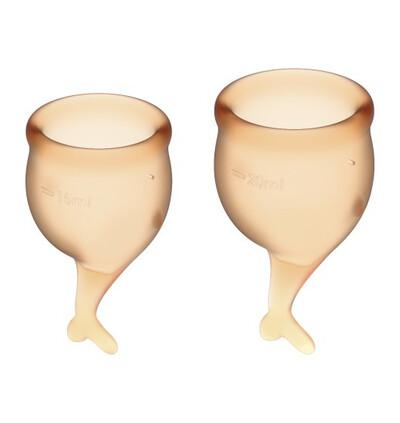 Satisfyer Feel Secure Menstrual Cup Set Orange - Kubeczki menstruacyjne