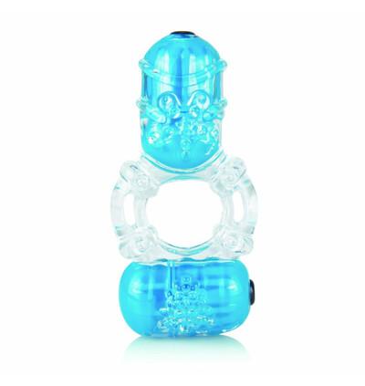 The Screaming O Color Pop Big O2 Blue - Wibrujący pierścień erekcyjny, Niebieski