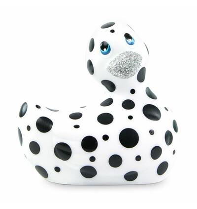 Masażer kaczuszka - I Rub My Duckie 2.0 Happiness, Biały i Czarny