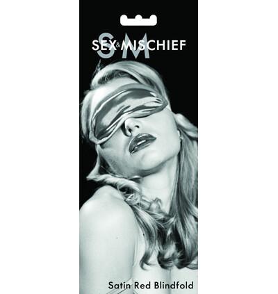 Sex&Mischief Satin Blindfold Red - Opaska na oczy czerwona