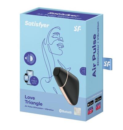 Satisfyer Love triangle black  - Wibrator łechtaczkowy sterowany aplikacją