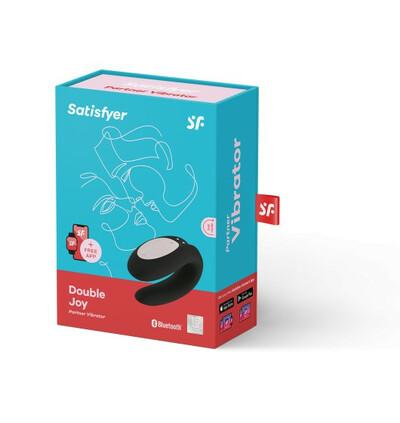 Satisfyer Double Joy Black  - Wibrator dla par sterowany aplikacją