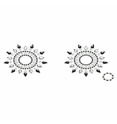 Petits Joujoux Gloria Black & Silver Czarna ze Srebrem - Nasutniki, Srebrny