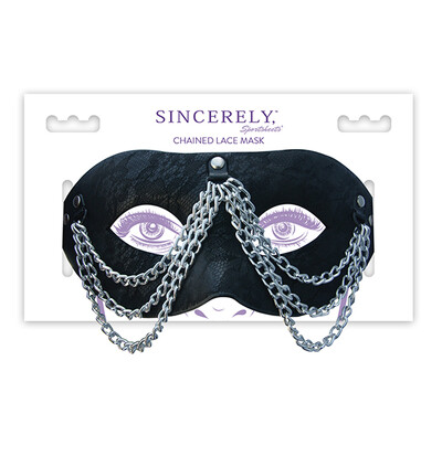 Sportsheets Sincerely Chained Lace Mask - Maska na oczy